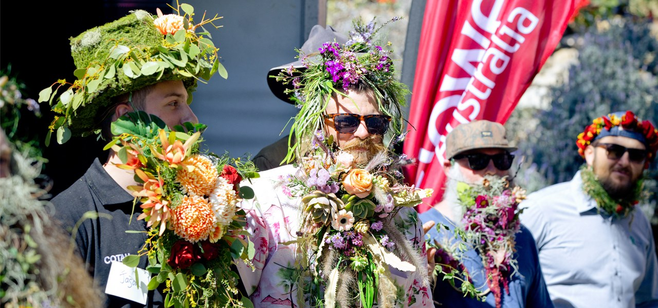 Ekka's Flower Beard Competition presented by Heritage Bank